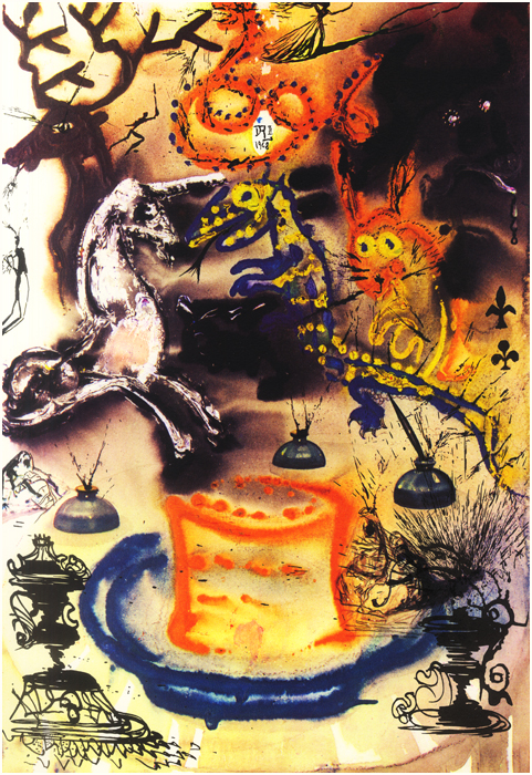 Salvador Dali illustrates Who Stole the Tarts from Alice's Adventures in Wonderland