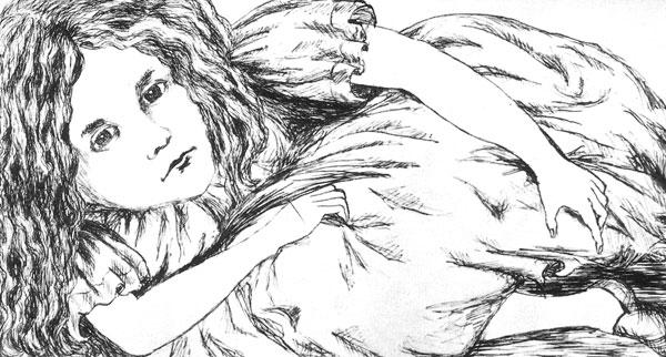 Alice's Adventures Under Ground original illustration