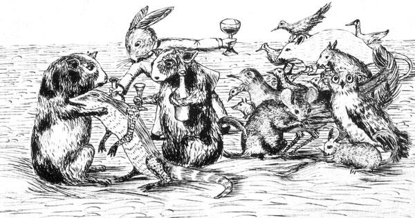 Alice's Adeventures Under Ground Little Bill illustration
