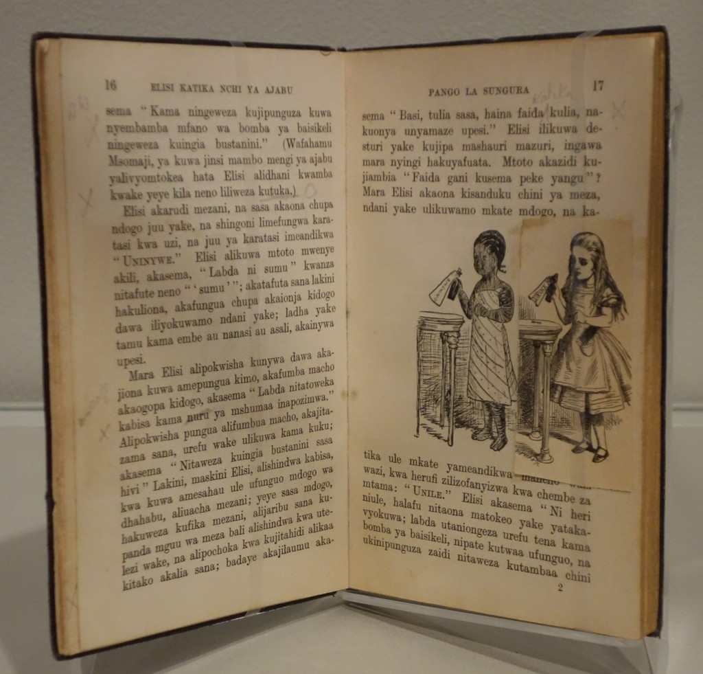 side by side John Tenniel and African illustrations