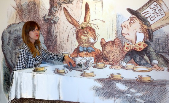 Mad Tea Party at Alice in Wonderland exhibit at NYPL