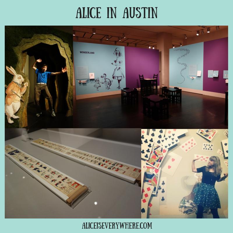 2015 alice in wonderland exhibit in austin texas
