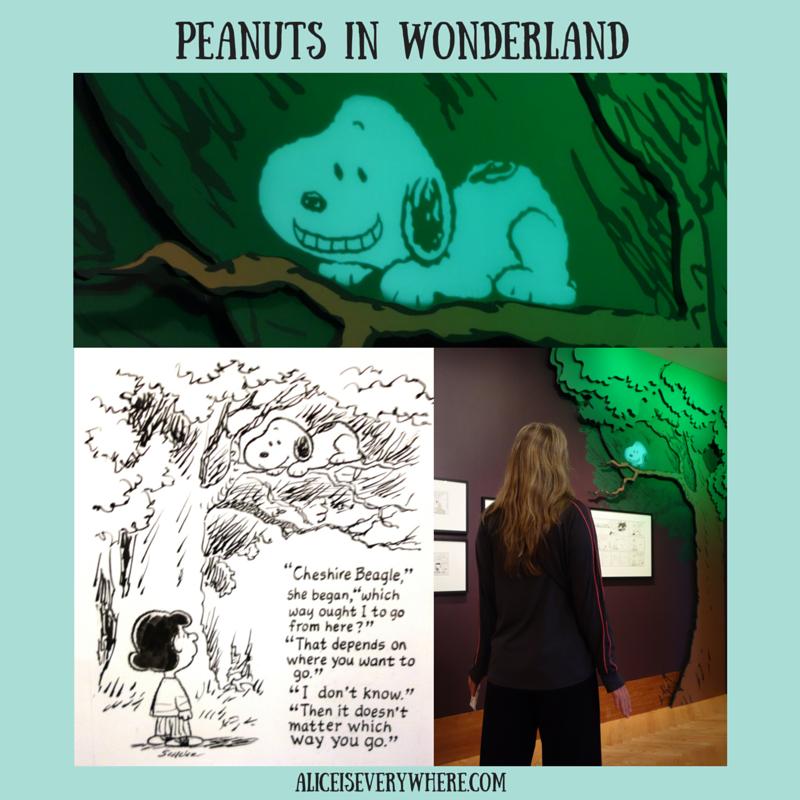 2015 alice in wonderland exhibit at charles schulz museum