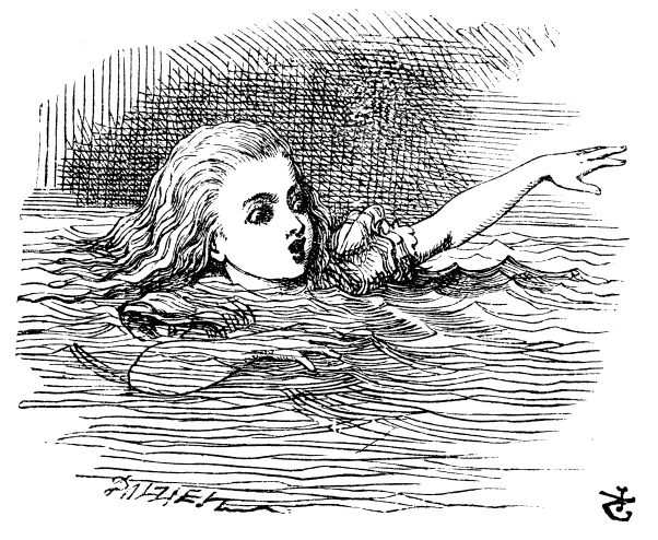 alice in wonderland swimming