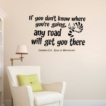 if you don't know where you;re going any road cheshire cat misquote