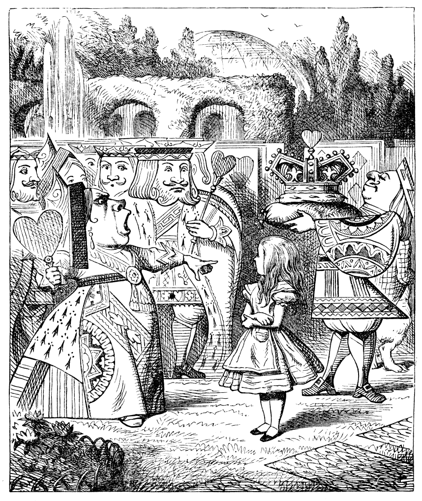 2nd illustration from the queen's croquet-ground