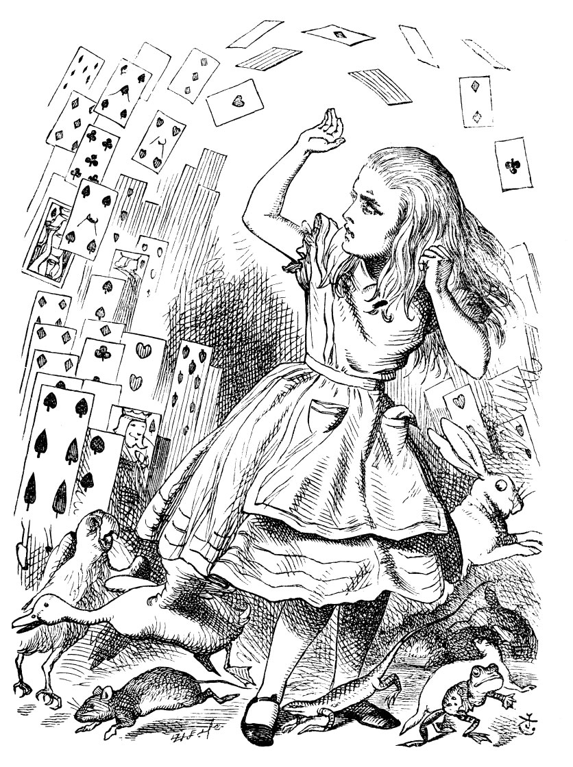 the playing cards attack Alice