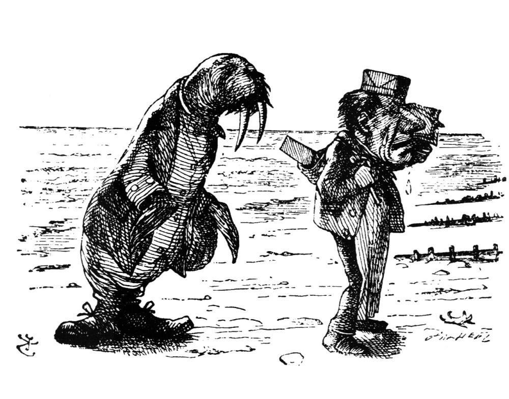 walrus and carpenter take a walk