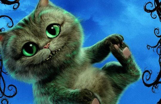 alice through the looking glass review includes cheshire kitty