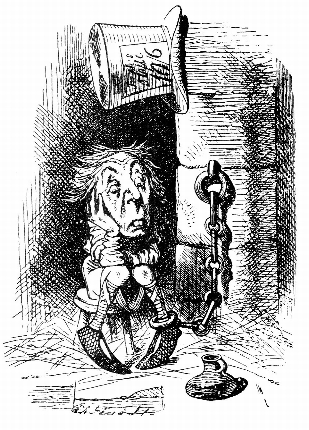 Mad Hatter sits in jail