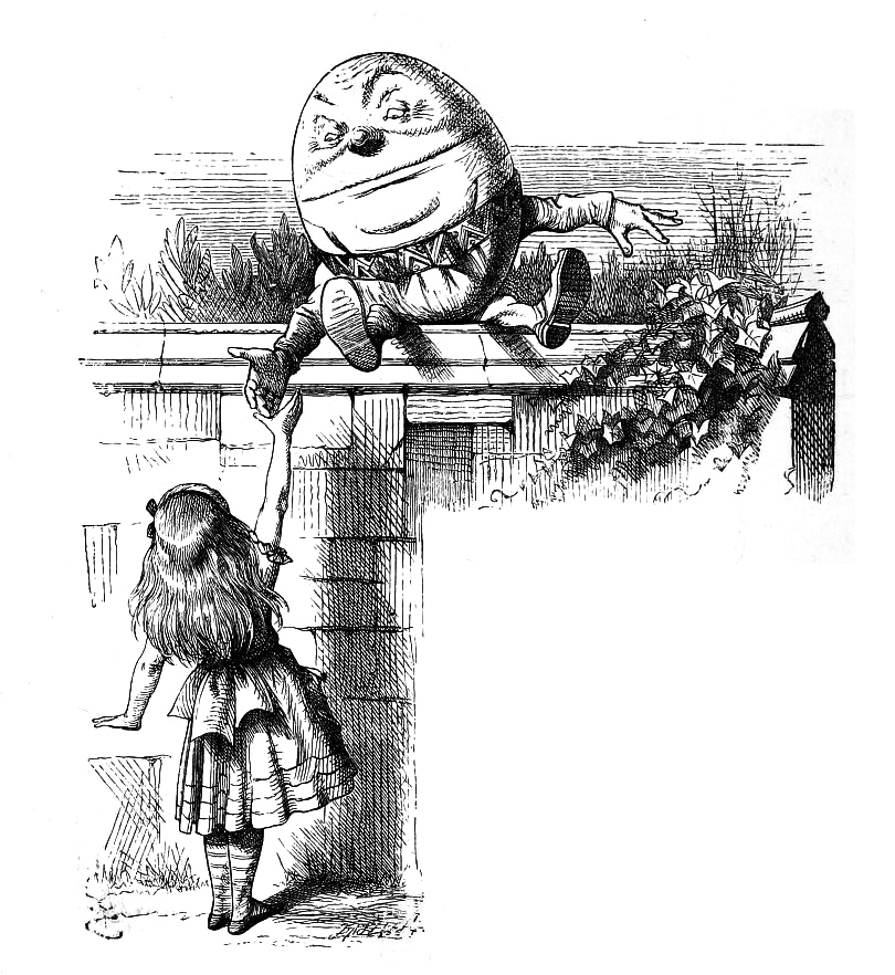 Chapter 6 Humpty Dumpty first illustration