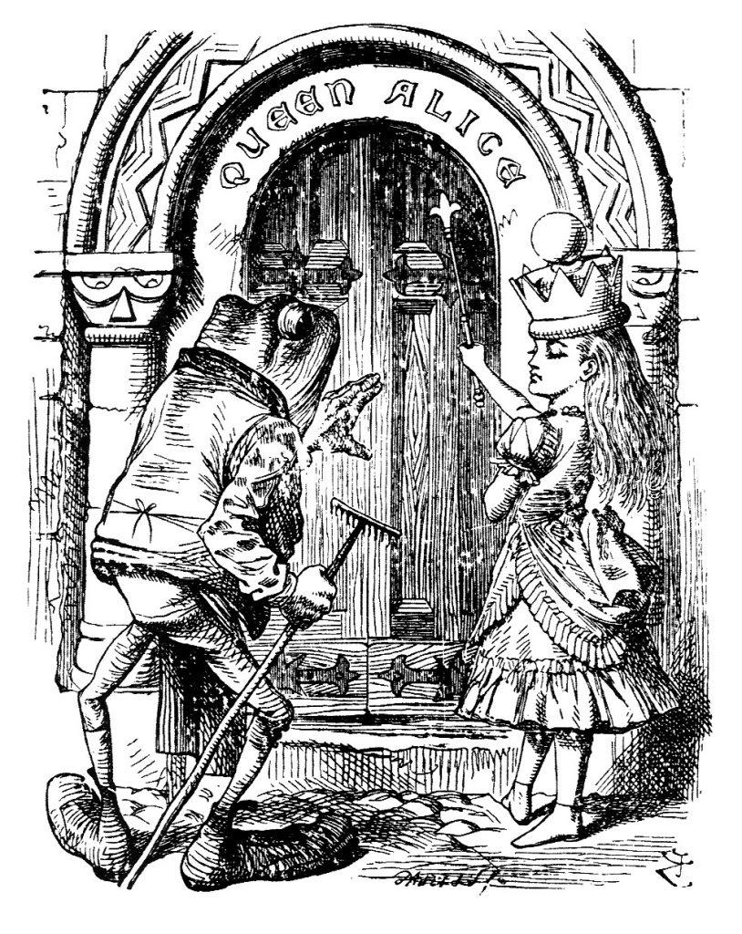 door is marked Queen Alice